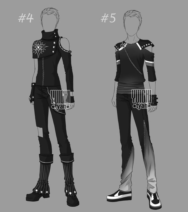 [Closed] Auction BW Outfit men 4-5 by YuiChi-tyan on DeviantArt
