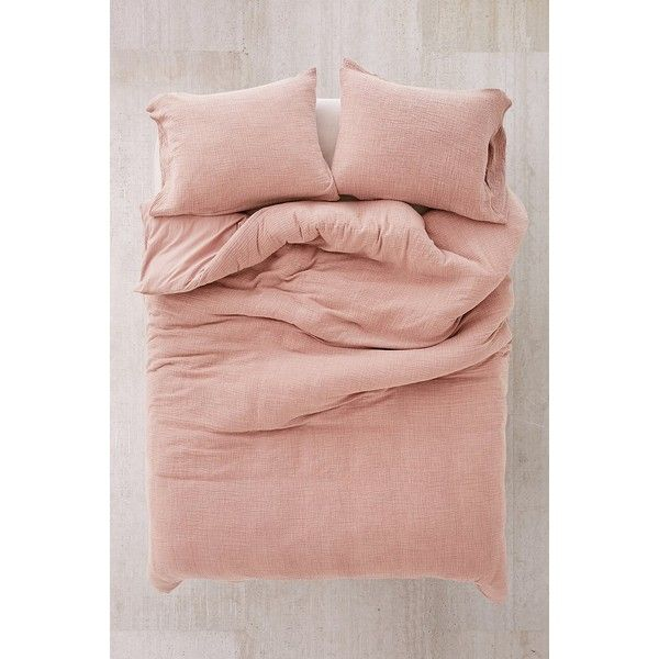 Crinkle Gauze Duvet Cover ($95) ❤ liked on Polyvore featuring home, bed & bath, bedding, duvet covers, urban outfitters, king size bed linen, king size bedding, urban outfitters bedding and twin xl bedding
