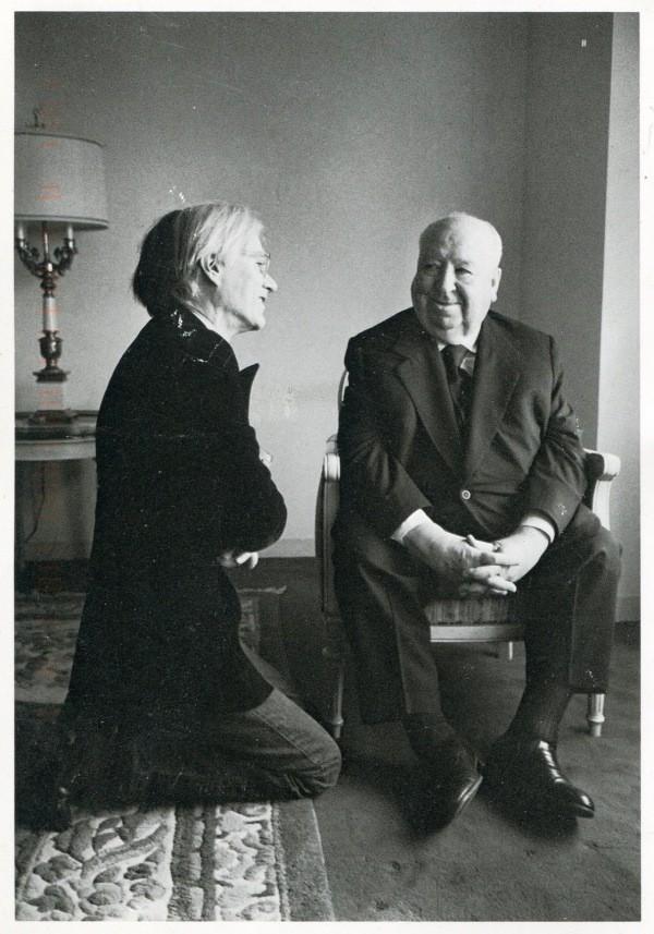 Andy Warhol entrevistando a Alfred Hitchcock
