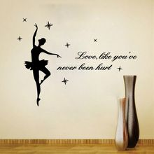 9262 Bailarina Ballet Wall Decor-Dança Do Dançarino Da Bailarina Ballet DIY Decorativo Decalque Da Parede Do Vinil Menina Decalque Adesivos(China (Mainland))