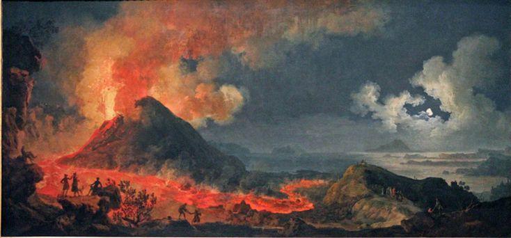 Volaire, Mt. Vesuvius, 1771, Chicago AIC  Amazing to see in person.