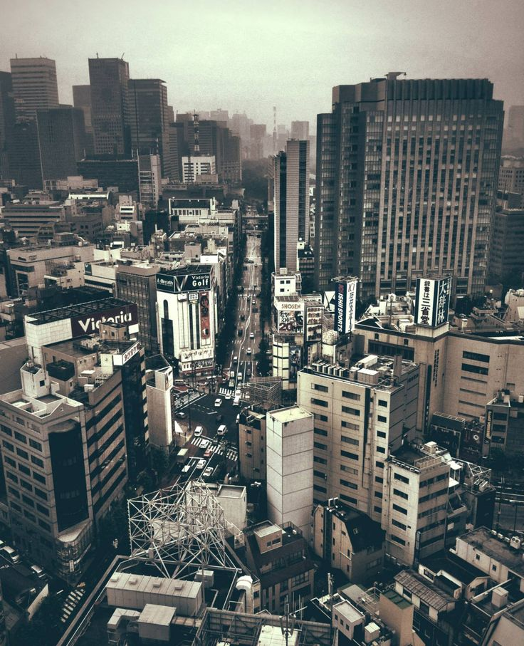 Grunge: The city of Tokyo can be colourful but sometimes also grey.