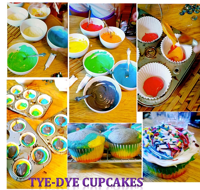 tie dye cake instructions