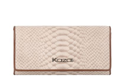 Beżowo-brązowy portfel