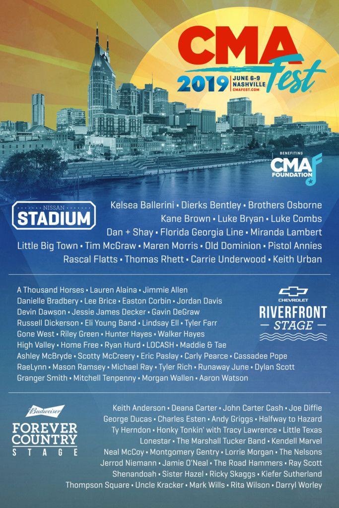Cma Fest In Nashville Don T Miss Country Music S Biggest Outdoor Festival Cma Fest Cma Music Festival Cma