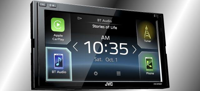 Neuer Bluetooth-Moniceiver von JVC: Der JVC KW-M730BT mit Apple CarPlay, Android Auto und Spotify Control