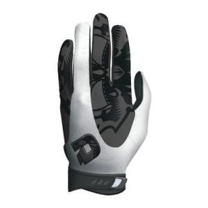DeMarini Voodoo A6250 Batting Gloves Pair Delivery Australia wide Wrap-around White leather on index finger and thumb Sublimated Voodoo graphics  Molded Sabertooth Hook & Loop closure  Black Neoprene wrist strap with flip-up graphics