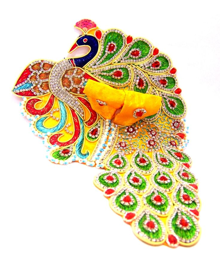 Pitambari Mayur Zari Poshak is a uniquely designed Multicolored (Yellow, Green, Blue) Laddu Gopal dress with a divine Peacock pattern.   This  Designer dress is made by Silk with perfectly finished and durable decorative heavy Zari & Stone work.There are different color embroidery and other types of work on the Poshak giving it a stunning appearance.    - See more at: http://www.divinekraft.com/POSHAK---DRESS/Pitambari-Mayur-Zari-Poshak-id-1780551.html#sthash.246h3PaH.dpuf