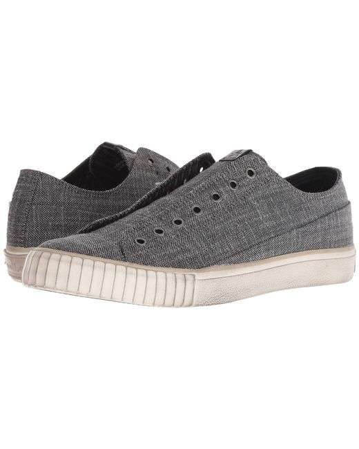 d968c7325 John Varvatos - Gray Two-tone Blended Fabric Low Top (charcoal) Men s Shoes  for Men - Lyst