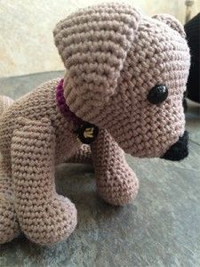 Crochet Labrador toy pattern! Free crochet pattern or order your own.