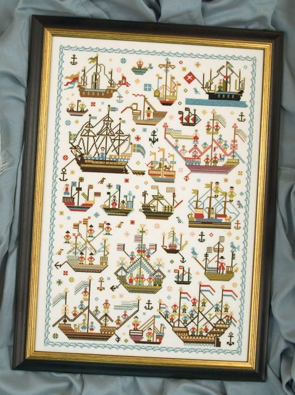 Historic Samplers | Historic Seafarers, - Samplers - Cross Stitch - Designs