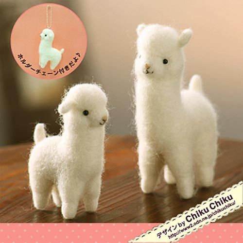 RESERVED FOR jpark51 Kawaii Japan Craft Needle Felting Kit : Alpacas - English Translation Available