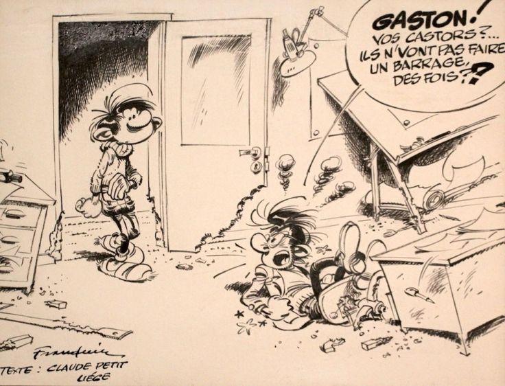 Franquin - Gaston & Prunelle par André Franquin - oeuvre originale