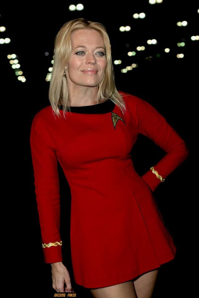 Jeri Ryan in a TOS uniform