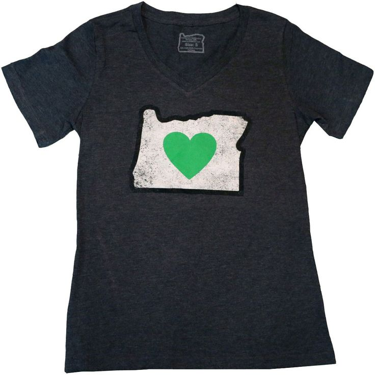 Follow your heart it will lead you home wearing this heart in oregon distressed t