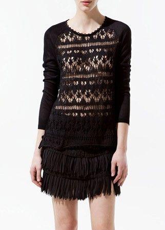 Zara open cut sweater, £35.99