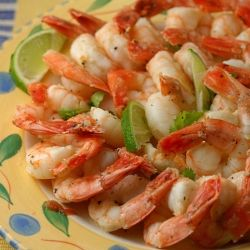 Tequila and Lime Marinated Shrimp.  A little margarita party on your plate.