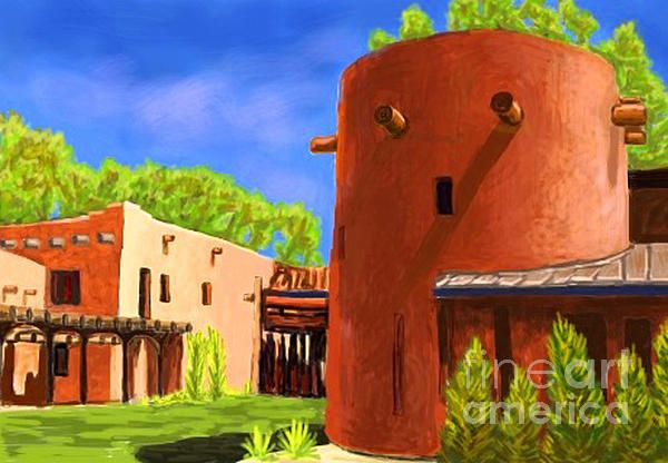 And adobe house in Santa Fe New Mexico.  I was just having fun with a new app on my iPhone. i did res it up, but i think it stile looks pretty good. more to come :) see more of my work on fine Art America.