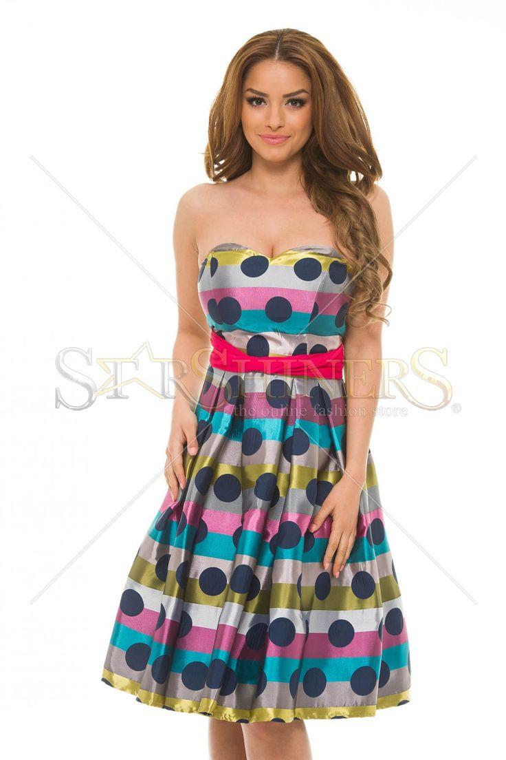 LaDonna Dots Modesty Purple Dress