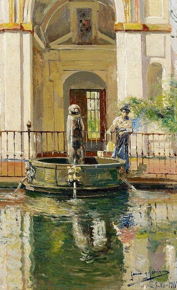 Manuel García y Rodríguez - En una fuente en Sevilla