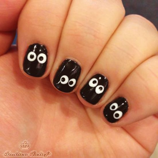 25 best toothpick nail art images on pinterest fabulous nails spooky eyeball nails the easiest halloween manicure ever prinsesfo Gallery