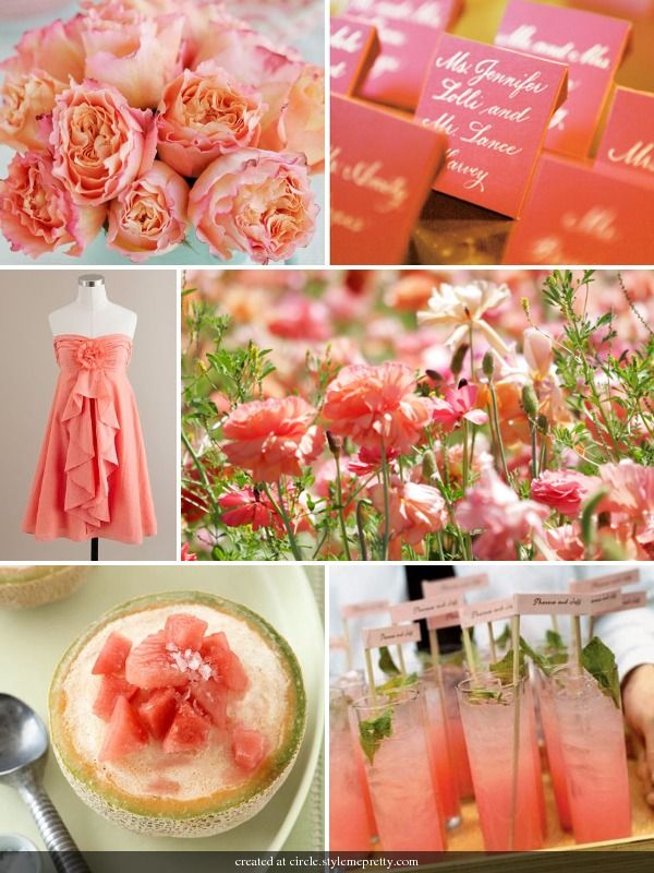 CORAL AND MELON By Bride Chic -- see more at LuxeFinds.com