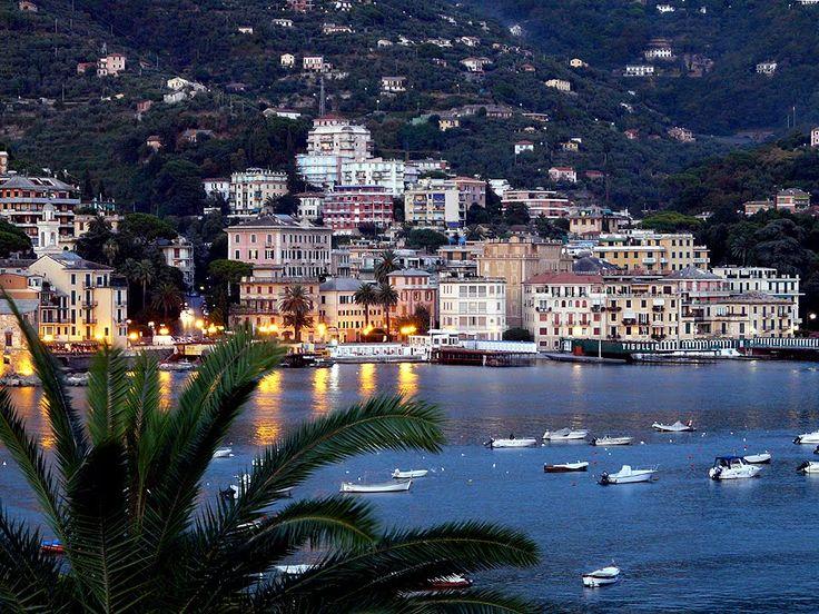Rapallo Italy, at dusk....I can smell it