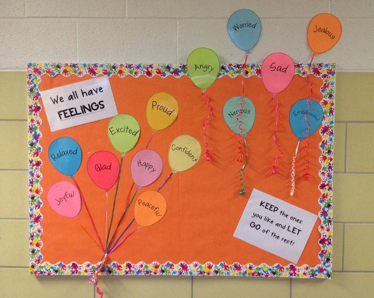 School counseling bulletin board - We all have feelings. KEEP the ones you like and LET GO of the rest!
