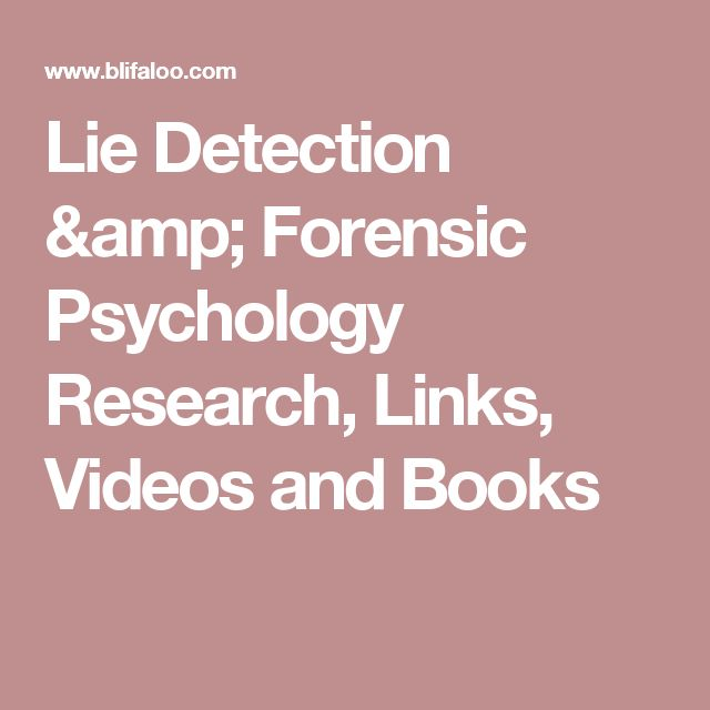 Forensic Psychology Topics