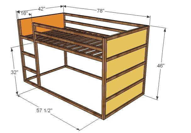 Ana White | Build a How to Build a Fort Bed | Free and Easy DIY Project and Furniture Plans