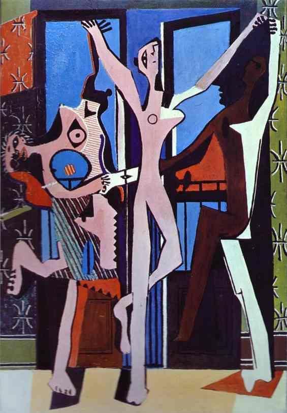 """""""tres bailarines"""", óleo de Pablo Picasso (1881-1973, Spain)"""