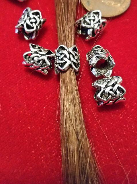 Antiqued Silver Viking Beard Sleeve (1pc)