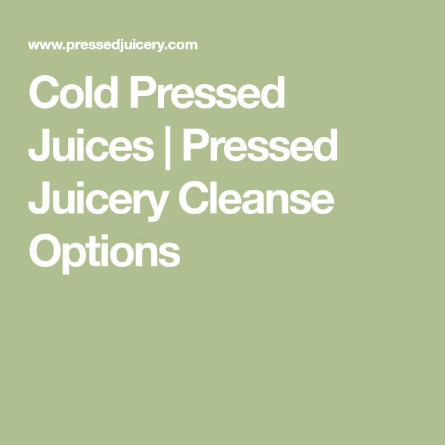 Cold Pressed Juices | Pressed Juicery Cleanse Options