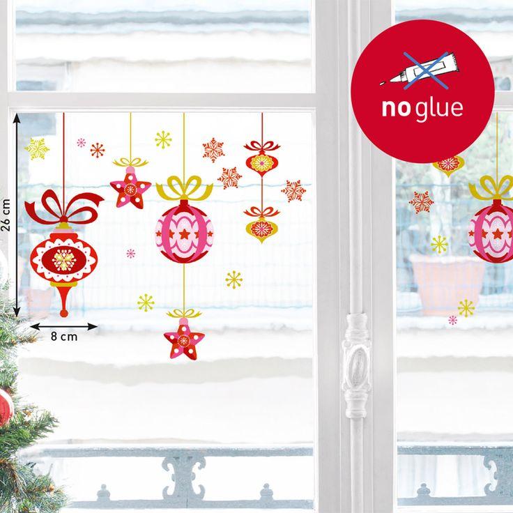 Sticker de Fenêtre Boules de Noël