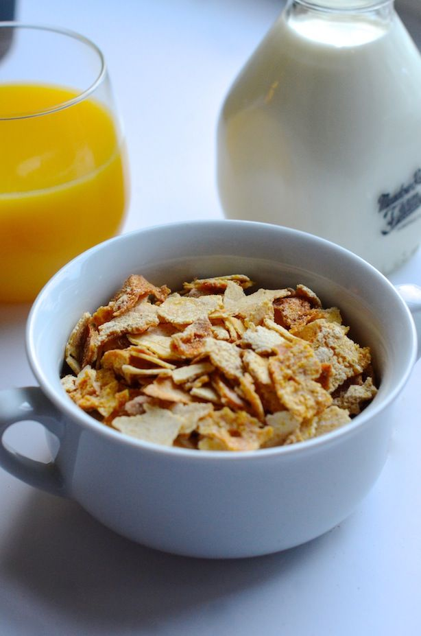 How to Make Homemade Corn Flakes Cereal ~ What a cool and really easy idea! ~ from Always Order Dessert
