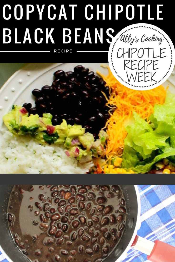 Copycat recipe for Chipotle's vegetarian black beans. via @Ally\\\'s Cooking