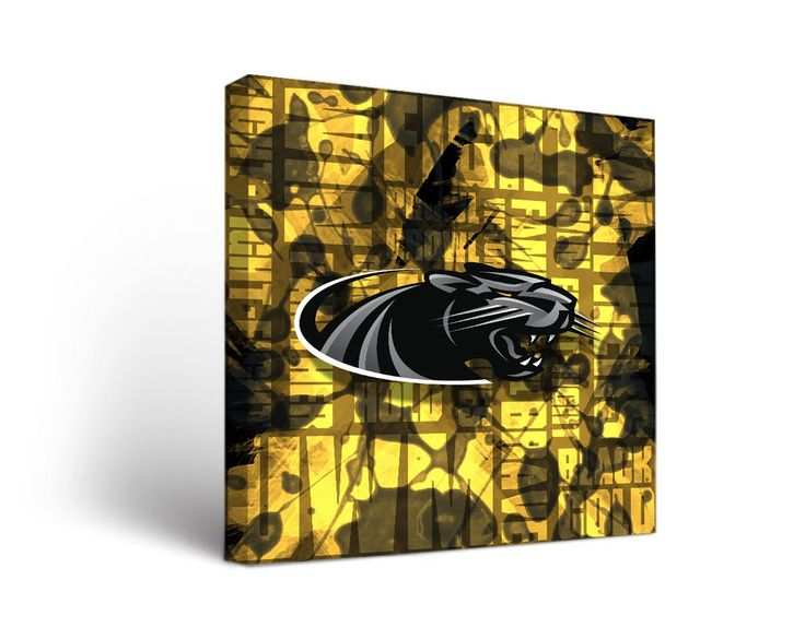 Wisconsin-Milwaukee Panthers Fight Song Art Print on Canvas Square