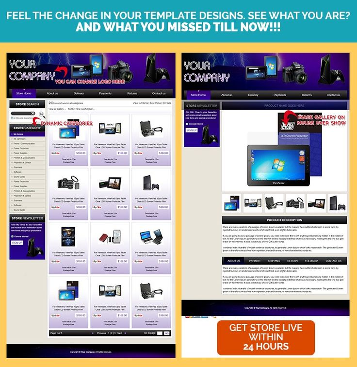 Best Electronics Computers Theme EBay Store Listing Templates - Ebay selling page template