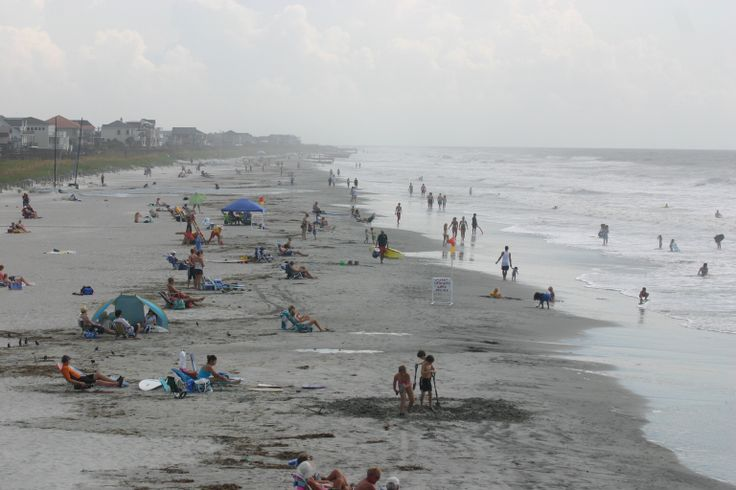 Visitors to Isle of Palms County Park, South Carolina, are watched over by trained lifeguards (on duty seasonally) and have access to rental chairs and umbrella.