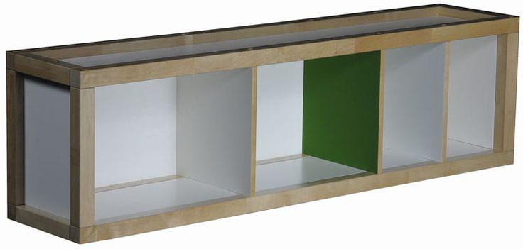 Duża półka wisząca EKO KIDS  Półka wisząca do pokoju dziecięcego. Możliwość zamontowania w orientacji poziomej jak i pionowej. Wyprodukowana z płyty MDF i litego drewna brzozowego.