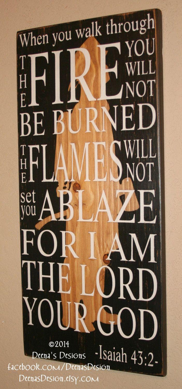 Firefighter Faith Firefighter Bible Verse by DeenasDesign on Etsy