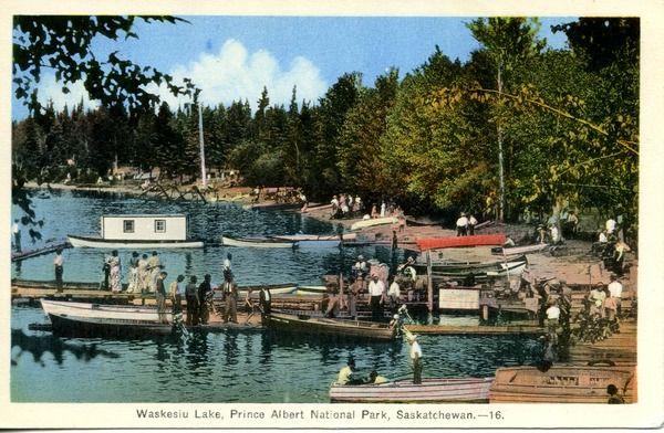 Waskesiu Lake, Prince Albert Natioanl Park, ...   saskhistoryonline.ca
