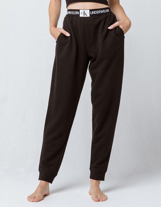 ae560faa6d5f1 CALVIN KLEIN Monogram Logo Black Womens Jogger Pants   ~⭕ ❌ in ...