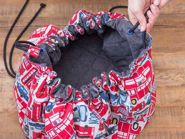 DIY-Anleitung: Spielmatte und Spielzeugtasche in einem nähen via DaWanda.com