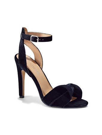 Shop Eva Mendes Collection - Velvet Ankle-Strap Sandal . Find your perfect size online at the best price at New York & Company.