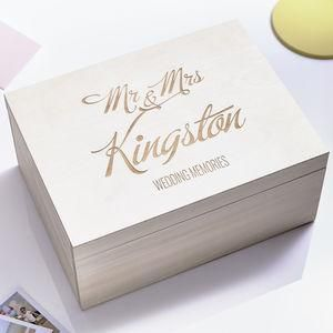 Large Personalised Elegant Wedding Keepsake Box - The best wedding presents are always the ones that come from the heart, so capture the best qualities of the happy couple in your gift. Thoughtful and personalised presents for the newlyweds.