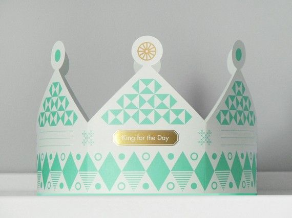 Cards that fold into paper crowns.