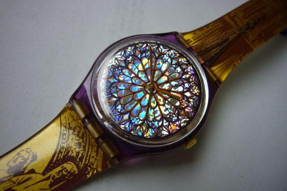 Vintage de reloj de pulsera reloj Vintage SWATCH reloj raro reloj suizo ETA Movimiento
