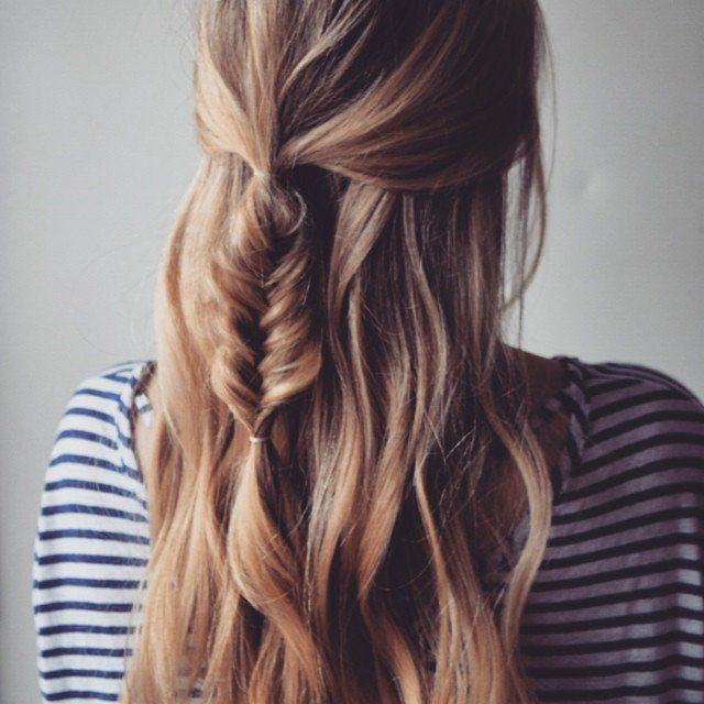 DIY Loose Messy Braids | 9 Braided Hairstyles For Spring, check it out at http://makeuptutorials.com/spring-2016-braided-hairstyles-makeup-tutorials