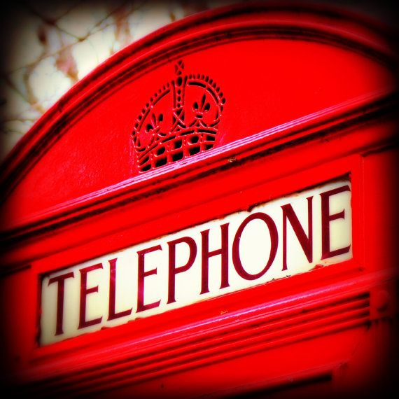 London Photography - Red Telephone Box Photograph - Square Print - London in Technicolour - 8 x 8